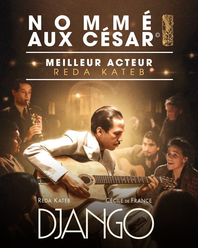 Django, nommé dans la catégorie «meilleur acteur» des César 2018 !