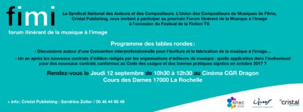 FIMI – Forum Itinérant de la Musique à l'Image – Septembre 2019